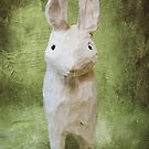 4x6 Vintage-Inspired Rabbit Print by amyestanley