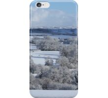 Devon winter snowscape iPhone Case/Skin