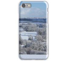 Devon winter snowscape iPhone Case/Skin