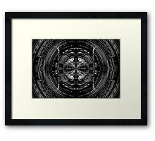 Abstract sci-fi pattern Framed Print