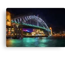 Sydney Harbor Bridge at Night (GO2) Canvas Print