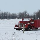 Red Truck on the Prairie... by eskrivers