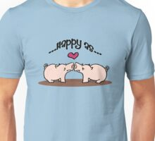 Happy as Pigs in Mud! Unisex T-Shirt
