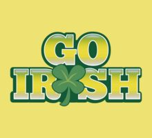 GO IRISH St Patrick's Day Design with a shamrock by jazzydevil