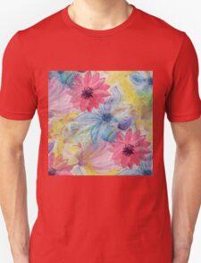 Watercolor hand paint floral design Unisex T-Shirt
