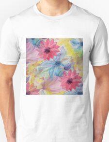 Watercolor hand paint floral design T-Shirt