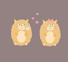 Hamsters in love by ilovecotton