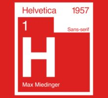 Helvetica Periodic Logo 2 (in white) Kids Clothes