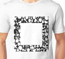 white square Unisex T-Shirt