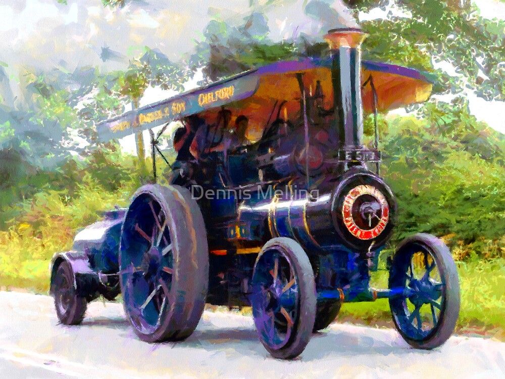 Steam Traction Engine at Jodrell Bank, Cheshire by Dennis Melling
