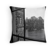 Over the moat, beyond the trees, far far away...... Throw Pillow