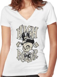 High Roller Women's Fitted V-Neck T-Shirt