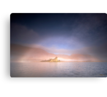 Mistbow and Castle Canvas Print