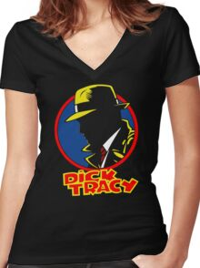 DICK TRACY PROFILE Women's Fitted V-Neck T-Shirt