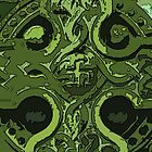 Green Celtic Cross by Errne