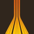 Retro Lines - Orange Flame by geekchic  tees