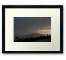 Storm strikes Framed Print