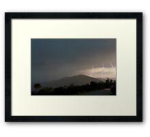 clear strikes Framed Print