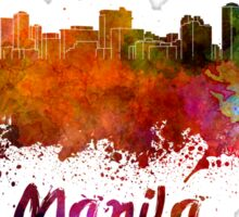 Manila skyline in watercolor Sticker