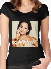 DEMI LOVATO TOUR 2016 CONFIDENT FUTURE NOW Women's Fitted Scoop T-Shirt
