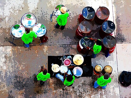 steel band from above by Mark Walker