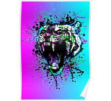 digital tiger  Poster