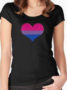 bi heart Women's Fitted Scoop T-Shirt