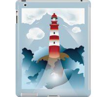 Lighthouse lights on over the unsteady sea iPad Case/Skin