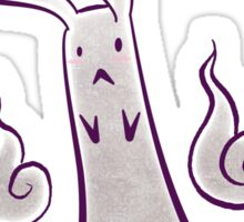 Spooky Bunny Rabbit Ghost Sticker