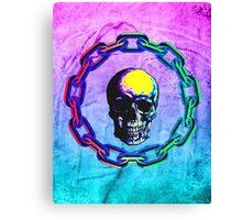 Skull Chain Canvas Print