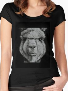 Alpaca shirt Women's Fitted Scoop T-Shirt