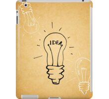 Idea lamp iPad Case/Skin