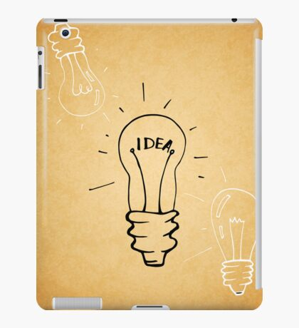 Idea lamp iPad Case/Skin