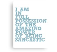 "The Demon's Lexicon: ""Sarcastic"" Canvas Print"