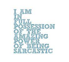 "The Demon's Lexicon: ""Sarcastic"" Photographic Print"