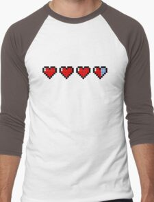 Pixel Hearts Men's Baseball ¾ T-Shirt