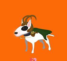 Loki bull terrier  by centtaro