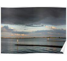 Dutch Light near Goese Sas on the Eastern Scheldt, The Netherlands Poster