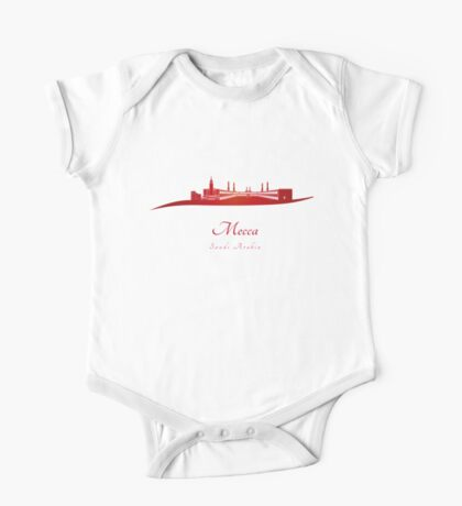 Mecca skyline in red One Piece - Short Sleeve
