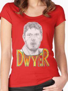 Andy Dwyer/Chris Pratt Portrait Women's Fitted Scoop T-Shirt