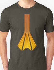 Retro Lines - Orange Flame T-Shirt