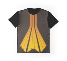 Retro Lines - Orange Flame Graphic T-Shirt