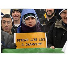 March for Life - Defend Life like a Champion Poster