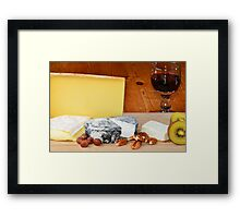 French cheese and red wine Framed Print