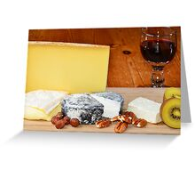 French cheese and red wine Greeting Card