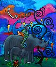 A Rhino and Peacock Lullaby by Juli Cady Ryan