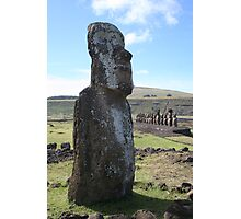 Ahu Tongariki Statue With Group Photographic Print