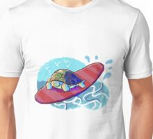 Surfing Turtle Unisex T-Shirt