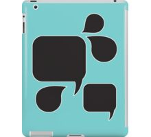 Black chalkboards speech bubbles  iPad Case/Skin