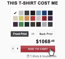 This T-shirt is Worth $1068.45 in REDBUBBLE ( This T shirt Cost me $1068.45 ) by jpmdesign